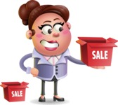 Clay Business Woman Cartoon Vector Character AKA Ruth O'Truth - Sale
