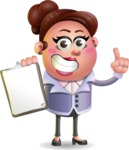 Clay Business Woman Cartoon Vector Character AKA Ruth O'Truth - Notepad 1