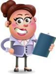 Clay Business Woman Cartoon Vector Character AKA Ruth O'Truth - Notepad 2