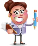 Clay Business Woman Cartoon Vector Character AKA Ruth O'Truth - Notepad 3