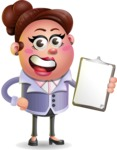 Clay Business Woman Cartoon Vector Character AKA Ruth O'Truth - Notepad 4