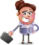 Clay Business Woman Cartoon Vector Character AKA Ruth O'Truth - Briefcase 1