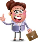 Clay Business Woman Cartoon Vector Character AKA Ruth O'Truth - Briefcase 2