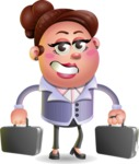 Clay Business Woman Cartoon Vector Character AKA Ruth O'Truth - Briefcase 3