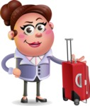 Clay Business Woman Cartoon Vector Character AKA Ruth O'Truth - Travel 1