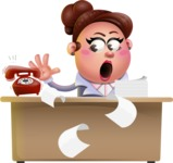 Clay Business Woman Cartoon Vector Character AKA Ruth O'Truth - Office fever