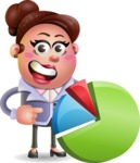 Clay Business Woman Cartoon Vector Character AKA Ruth O'Truth - Chart