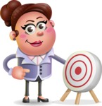 Clay Business Woman Cartoon Vector Character AKA Ruth O'Truth - Target