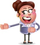 Clay Business Woman Cartoon Vector Character AKA Ruth O'Truth - Show 2