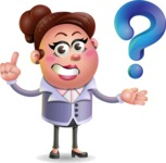 Clay Business Woman Cartoon Vector Character AKA Ruth O'Truth - Question