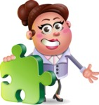 Clay Business Woman Cartoon Vector Character AKA Ruth O'Truth - Puzzle