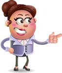 Clay Business Woman Cartoon Vector Character AKA Ruth O'Truth - Point