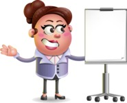 Clay Business Woman Cartoon Vector Character AKA Ruth O'Truth - Presentation 1