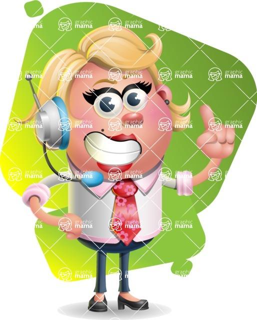 Stop Motion Style Business Girl Cartoon Vector Character AKA Sandra Jobs - Shape 7
