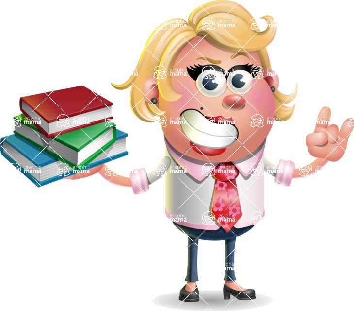 Stop Motion Style Business Girl Cartoon Vector Character AKA Sandra Jobs - Book 2