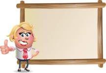 Stop Motion Style Business Girl Cartoon Vector Character AKA Sandra Jobs - Presentation 5