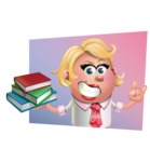Stop Motion Style Business Girl Cartoon Vector Character AKA Sandra Jobs - Shape 3