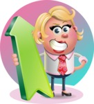 Stop Motion Style Business Girl Cartoon Vector Character AKA Sandra Jobs - Shape 8