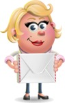 Stop Motion Style Business Girl Cartoon Vector Character AKA Sandra Jobs - Letter