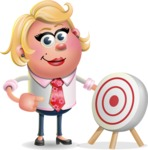 Stop Motion Style Business Girl Cartoon Vector Character AKA Sandra Jobs - Target