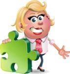 Stop Motion Style Business Girl Cartoon Vector Character AKA Sandra Jobs - Puzzle