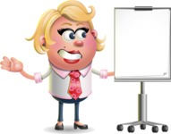 Stop Motion Style Business Girl Cartoon Vector Character AKA Sandra Jobs - Presentation 1
