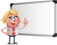 Stop Motion Style Business Girl Cartoon Vector Character AKA Sandra Jobs - Presentation 3