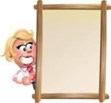 Stop Motion Style Business Girl Cartoon Vector Character AKA Sandra Jobs - Presentation 4