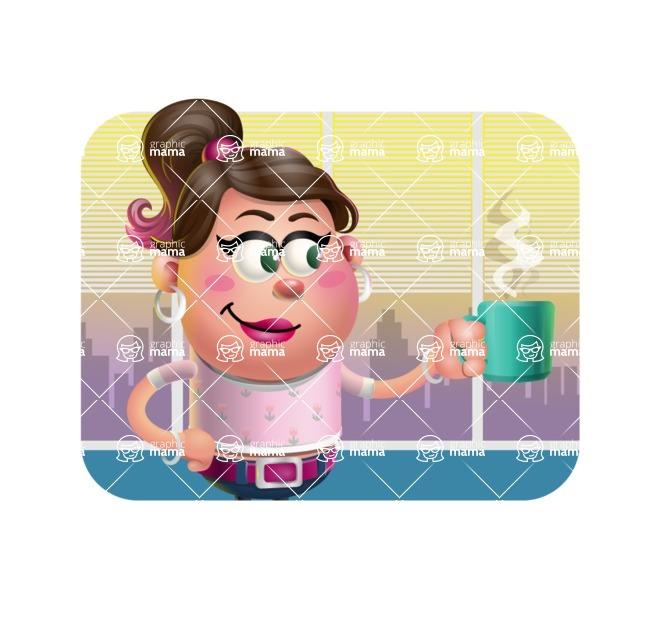 Cute Casual Girl Vector 3D Cartoon Character AKA Molly Chic - Shape 2