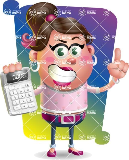 Cute Casual Girl Vector 3D Cartoon Character AKA Molly Chic - Shape 5
