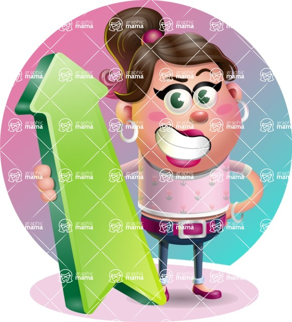 Cute Casual Girl Vector 3D Cartoon Character AKA Molly Chic - Shape 8