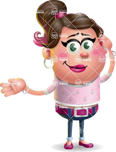 Cute Casual Girl Vector 3D Cartoon Character AKA Molly Chic - Sorry