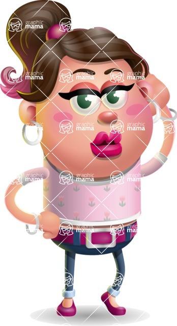 Cute Casual Girl Vector 3D Cartoon Character AKA Molly Chic - Duckface