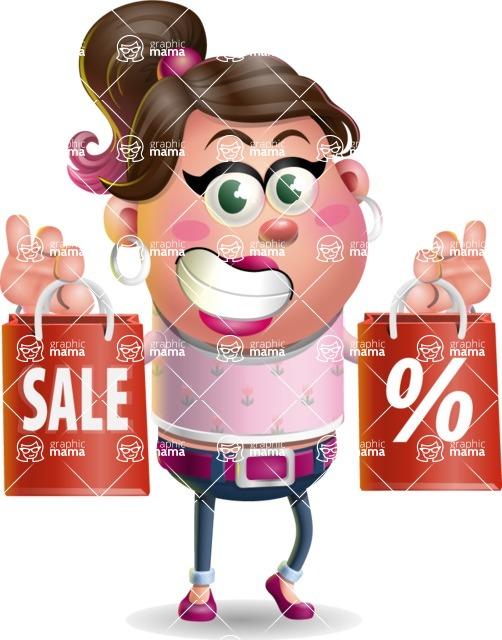 Cute Casual Girl Vector 3D Cartoon Character AKA Molly Chic - Sale 2