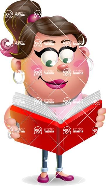 Cute Casual Girl Vector 3D Cartoon Character AKA Molly Chic - Book 1
