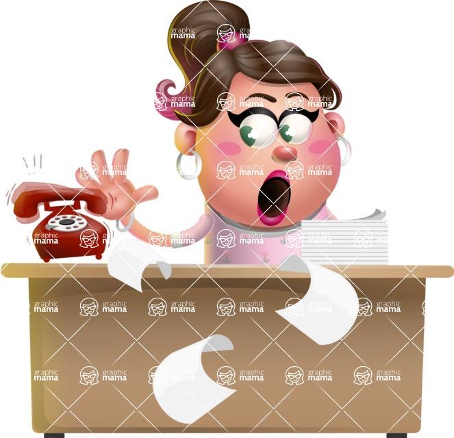 Cute Casual Girl Vector 3D Cartoon Character AKA Molly Chic - Office fever