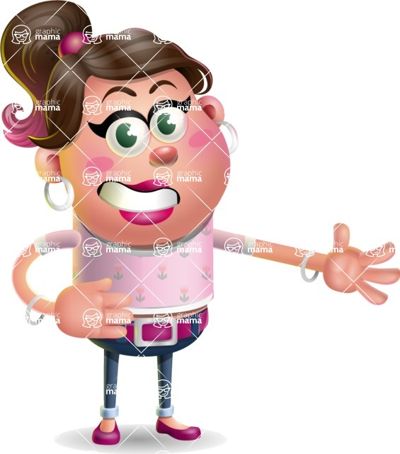 Cute Casual Girl Vector 3D Cartoon Character AKA Molly Chic - Show