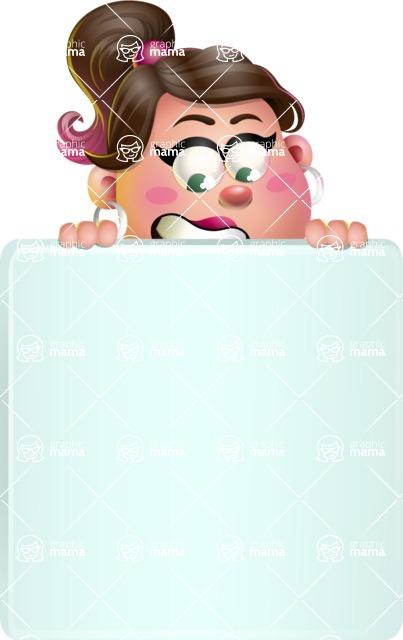Cute Casual Girl Vector 3D Cartoon Character AKA Molly Chic - Sign 6