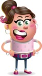 Cute Casual Girl Vector 3D Cartoon Character AKA Molly Chic - Normal