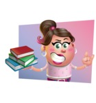 Cute Casual Girl Vector 3D Cartoon Character AKA Molly Chic - Shape 3