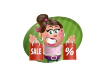 Cute Casual Girl Vector 3D Cartoon Character AKA Molly Chic - Shape 4