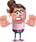 Cute Casual Girl Vector 3D Cartoon Character AKA Molly Chic - Stop