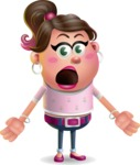 Cute Casual Girl Vector 3D Cartoon Character AKA Molly Chic - Stunned