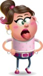 Cute Casual Girl Vector 3D Cartoon Character AKA Molly Chic - Making Face