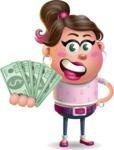 Cute Casual Girl Vector 3D Cartoon Character AKA Molly Chic - Show me  the Money