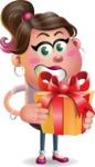 Cute Casual Girl Vector 3D Cartoon Character AKA Molly Chic - Gift