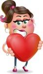 Cute Casual Girl Vector 3D Cartoon Character AKA Molly Chic - Love