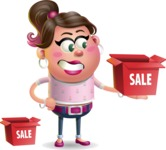 Cute Casual Girl Vector 3D Cartoon Character AKA Molly Chic - Sale