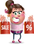 Cute Casual Girl Vector 3D Cartoon Character AKA Molly Chic - Sale 2