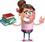 Cute Casual Girl Vector 3D Cartoon Character AKA Molly Chic - Book 2